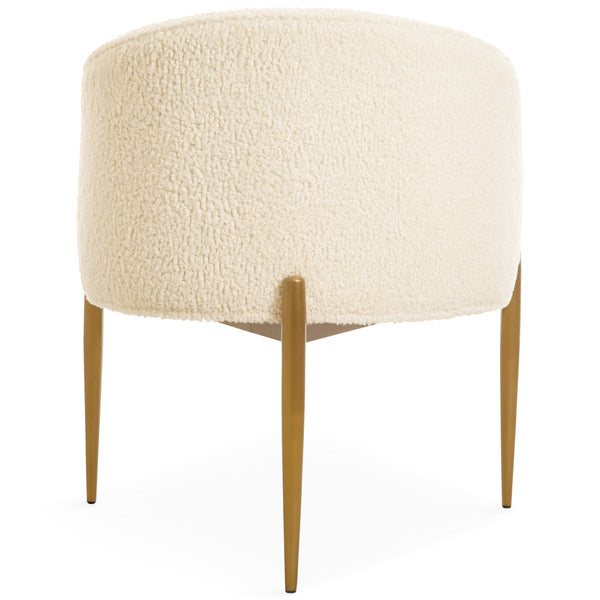 Art Deco Dining Chair in Faux Sheepskin - ModShop1.com