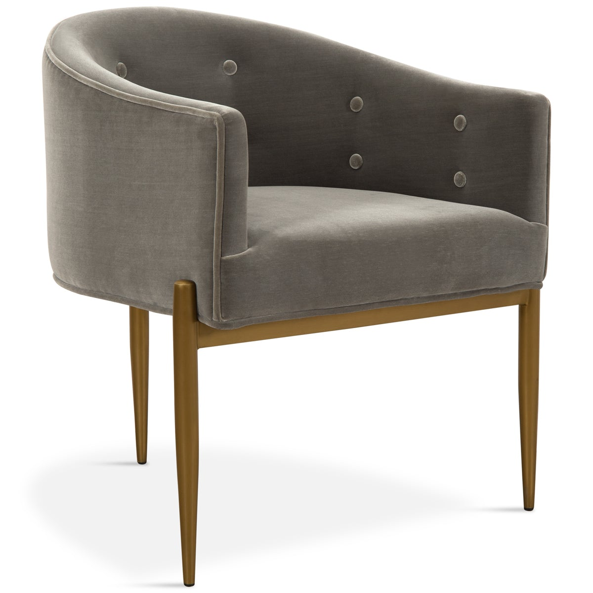Art Deco Dining Chair in Brushed Brass
