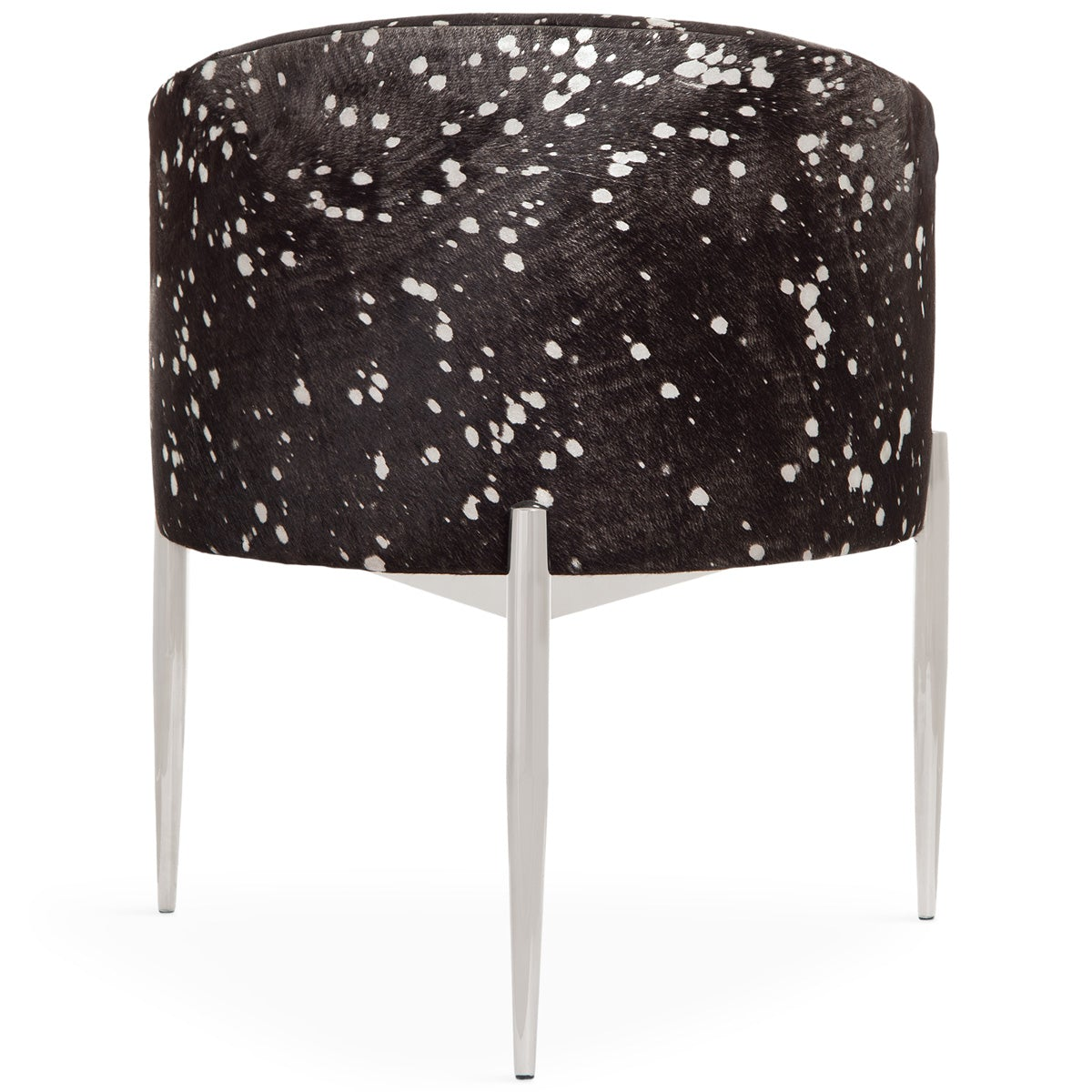 Astonishing Art Deco Dining Chair Silver Speckled Cowhide Dining Chair Bralicious Painted Fabric Chair Ideas Braliciousco