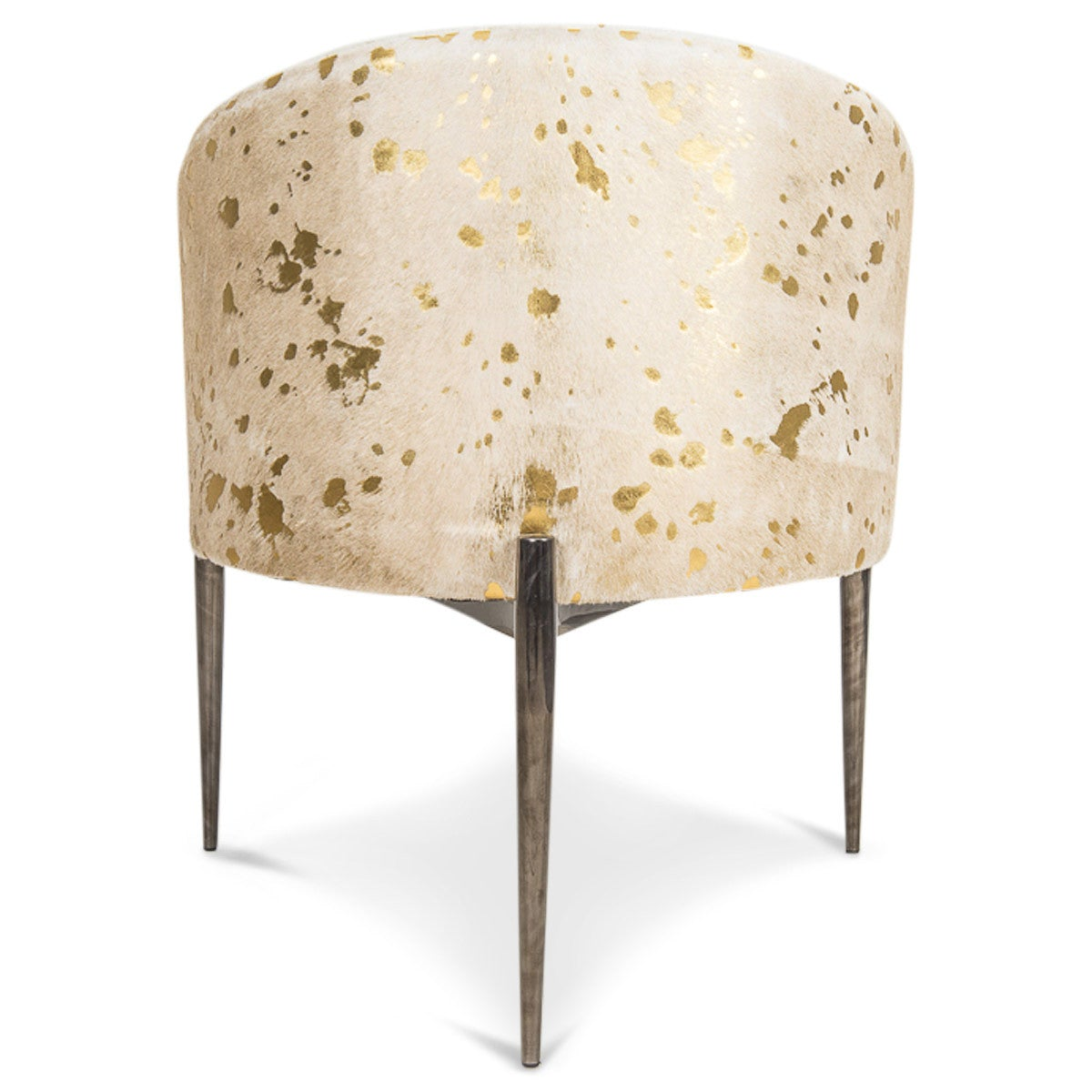 Art Deco Dining Chair In Golden Cowhide