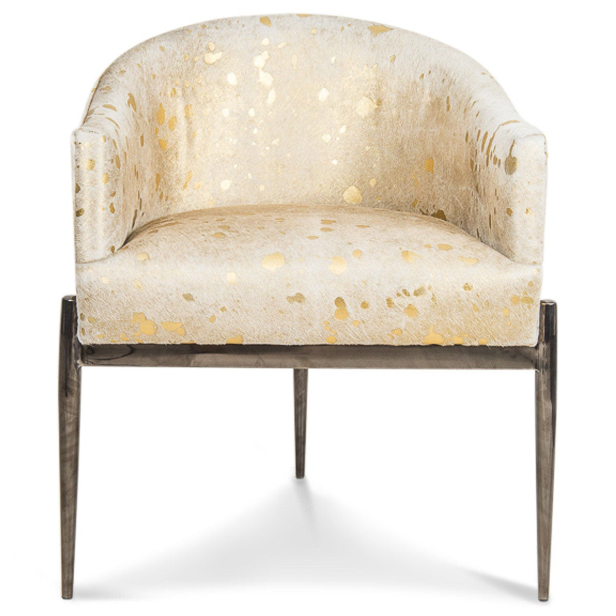 art deco dining furniture. art deco dining chair in golden cowhide furniture 0