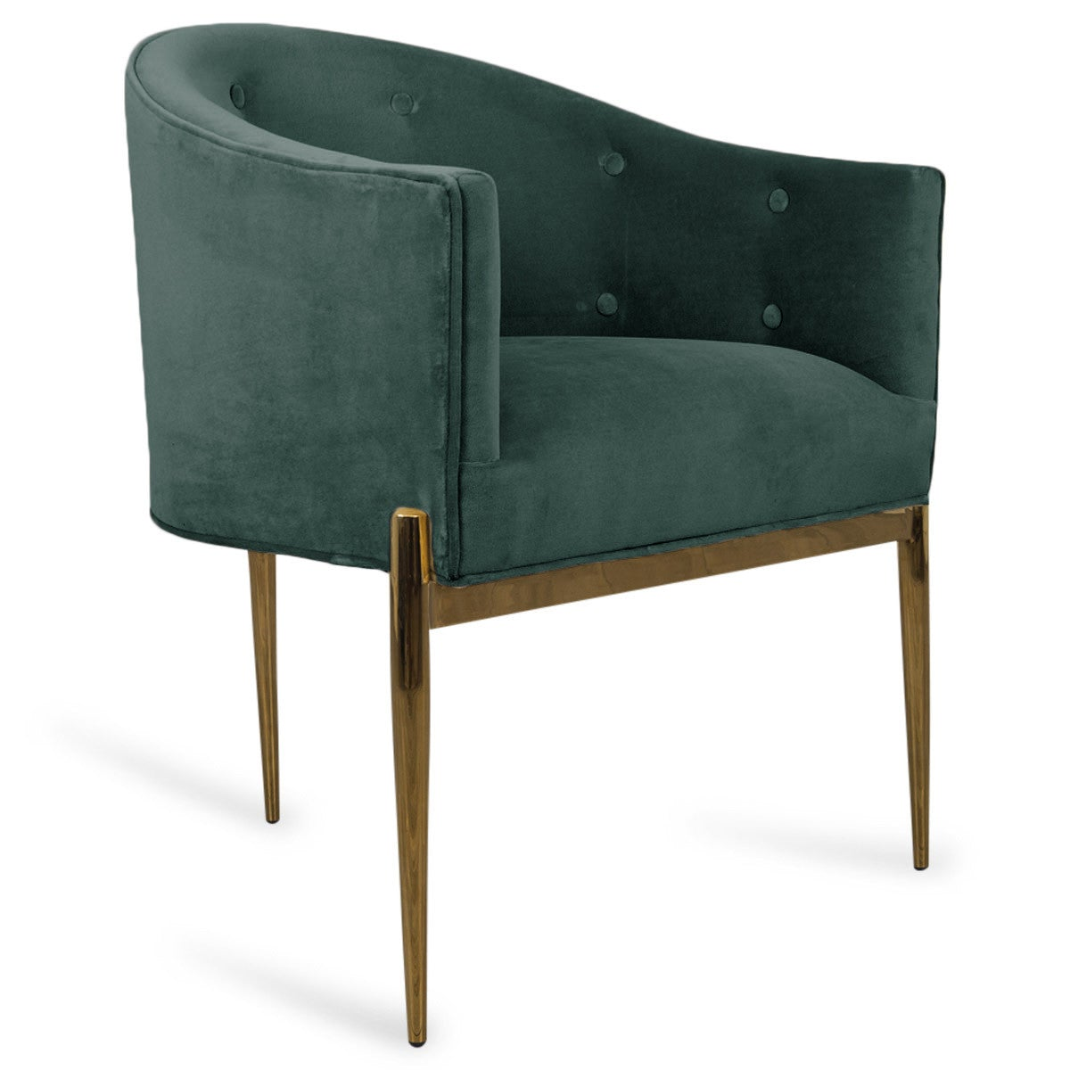 Well-liked Art Deco Velvet Dining Chair - Tufted Armchair with Brass Legs  MI34