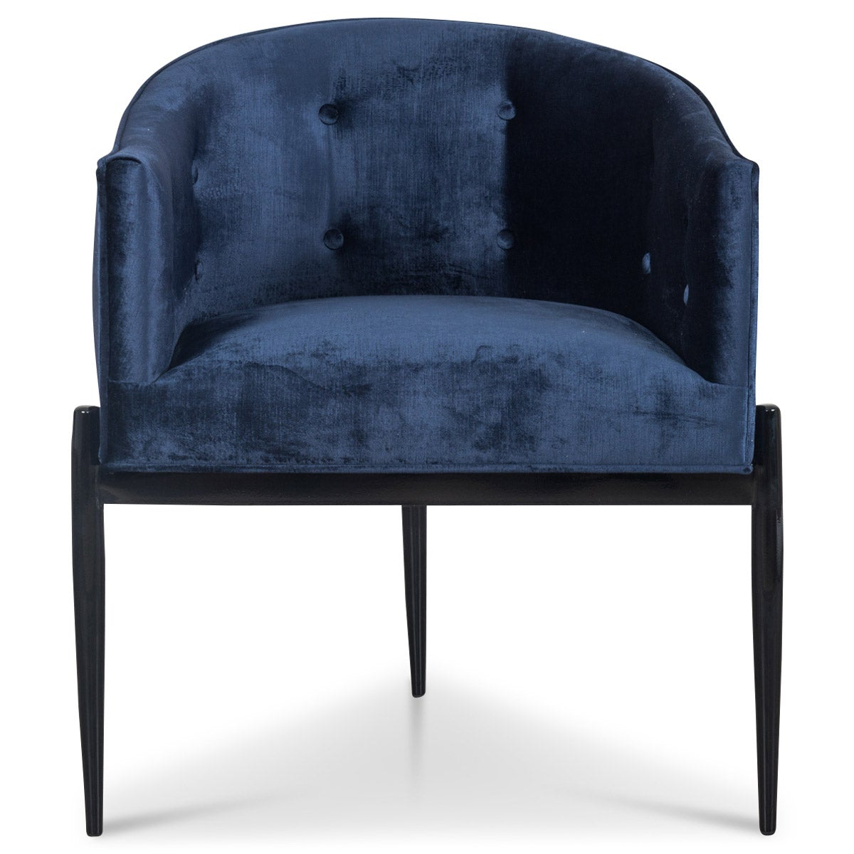 Art Deco Dining Chair in Brussels Midnight Velvet - ModShop1.com