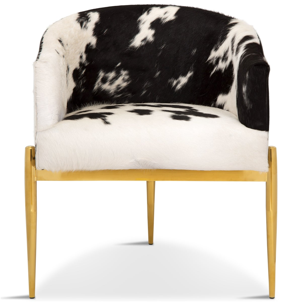 Art Deco Dining Chair in Cowhide - ModShop1.com