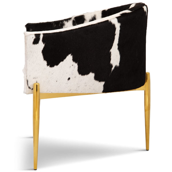 Art Deco Dining Chair in Cowhide