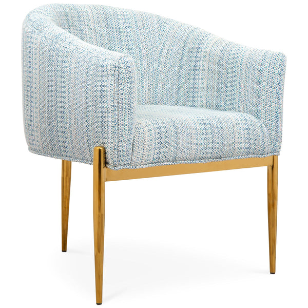 Art Deco Dining Chair in Textured Fabric