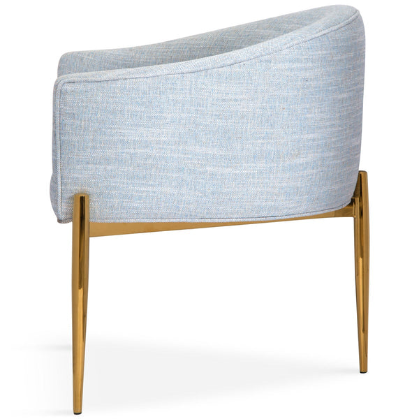 Art Deco Dining Chair in Linen - ModShop1.com