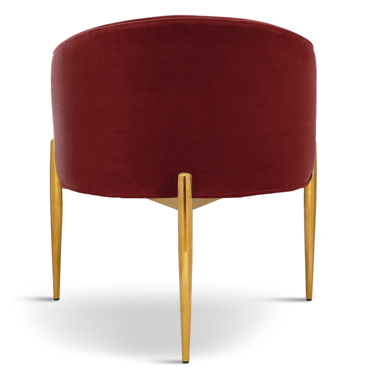 Art Deco Velvet Dining Chair - Tufted Armchair with Brass ...