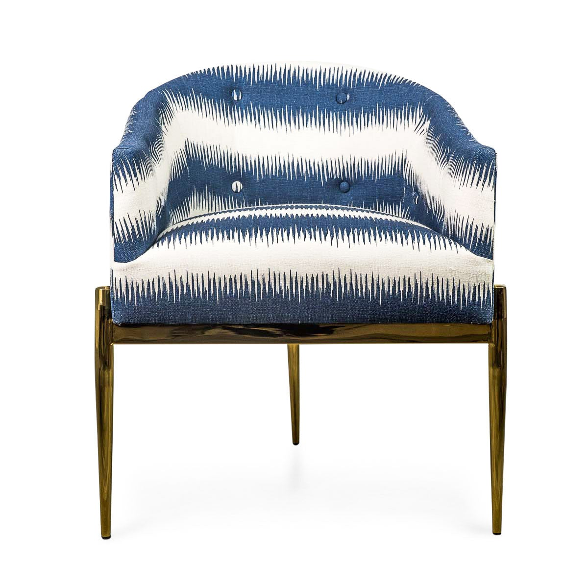 Cool Art Deco Dining Chair Striped Ikat Wingback Chair Modshop Inzonedesignstudio Interior Chair Design Inzonedesignstudiocom