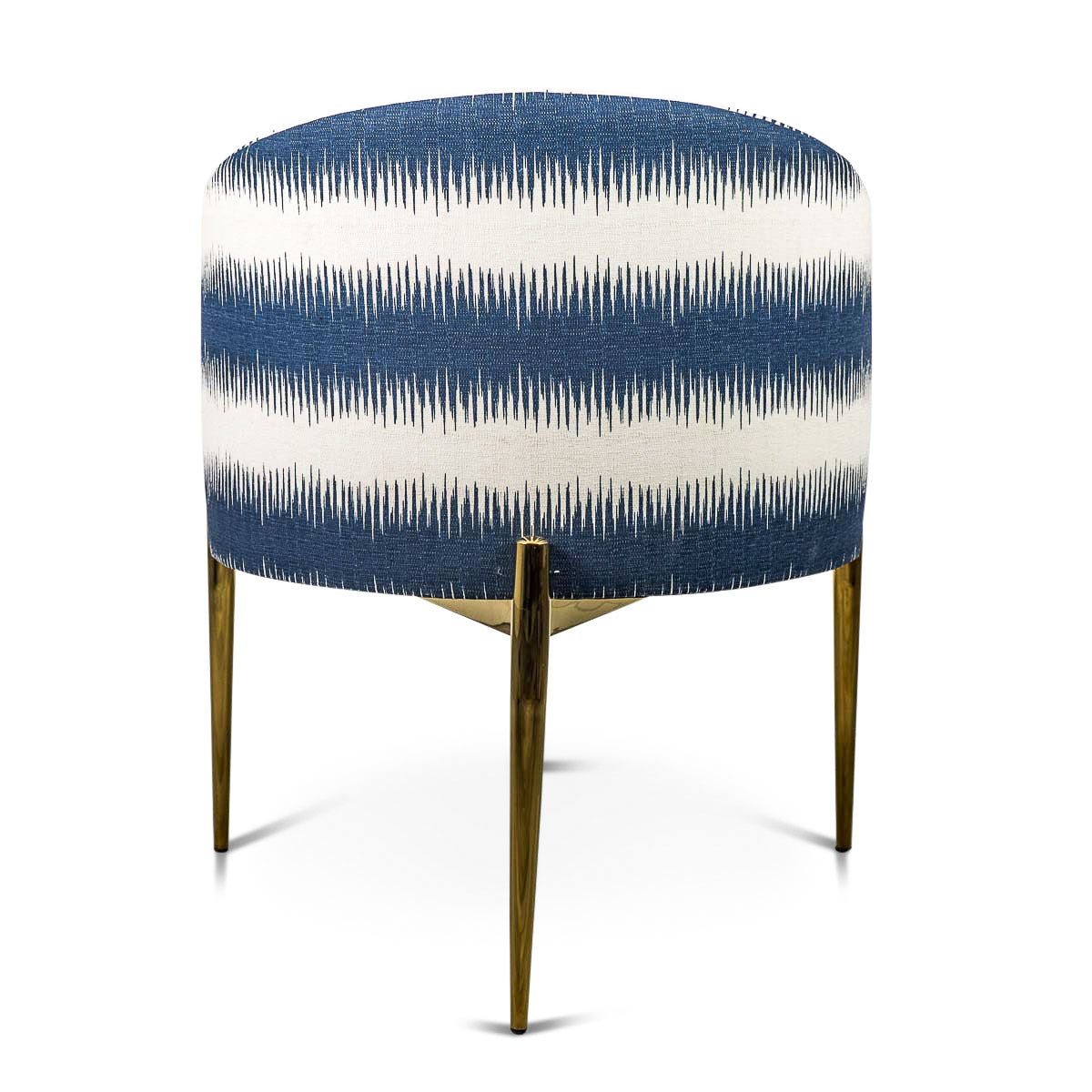 Turquoise ikat chair - Art Deco Dining Chair In Stripe Ikat