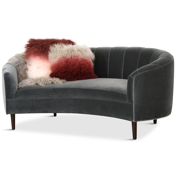 Art Deco Petite Sofa with Channel Tufting - ModShop1.com