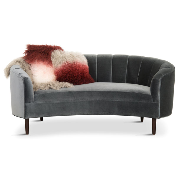 Art Deco Petite Sofa with Channel Tufting