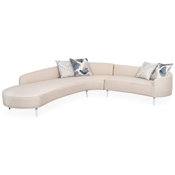 Art Deco Sectional in Linen