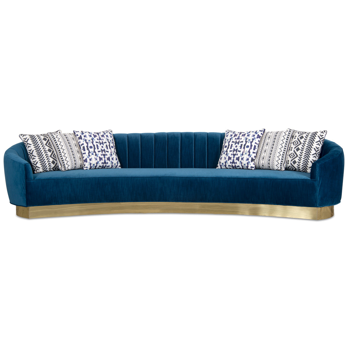 Art Deco 2 Sofa with Brass Toe Kick - ModShop1.com