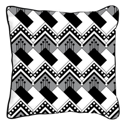 Art Deco Diamond Black & White - ModShop1.com