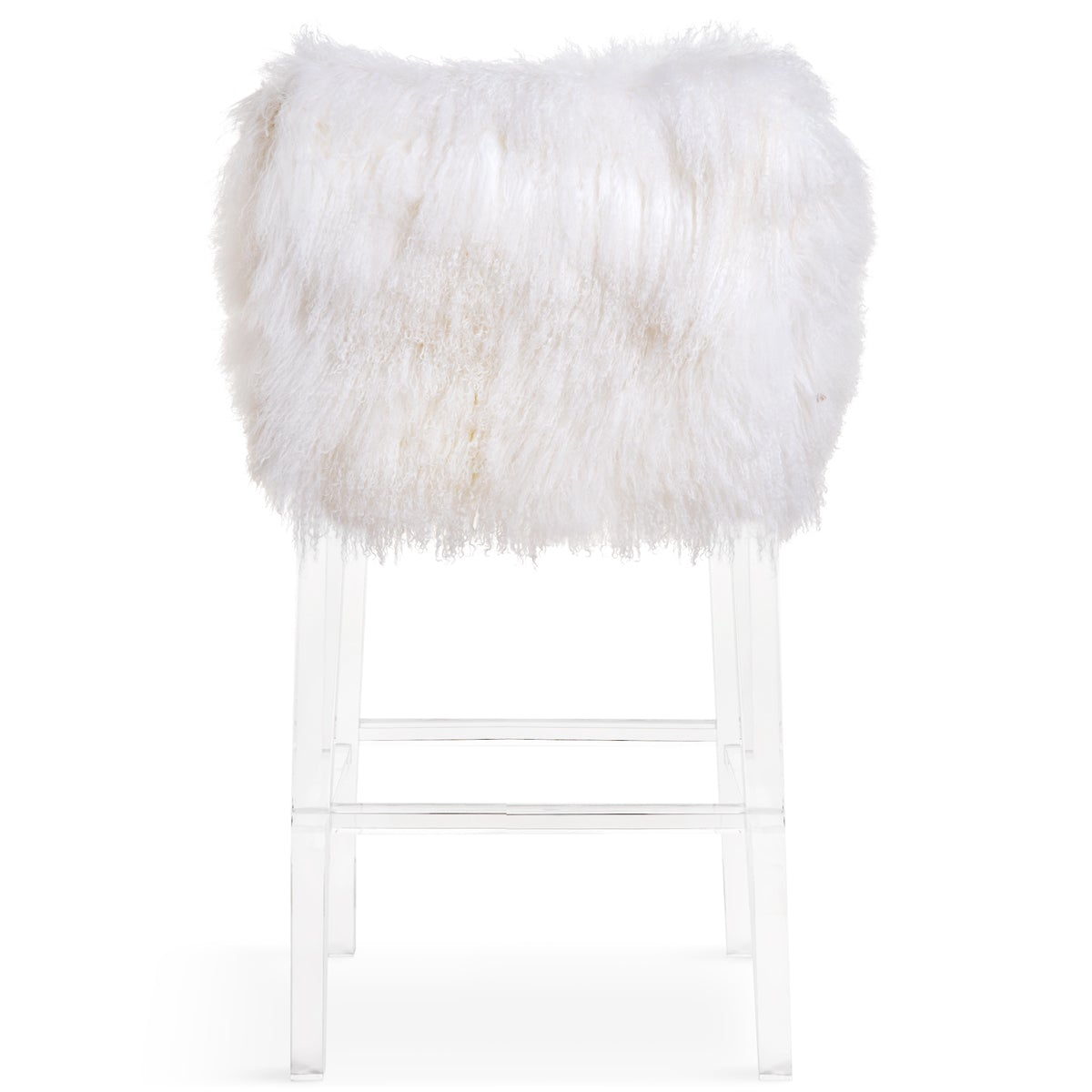 Enjoyable Beverly Hills Bar And Counter Stool In Mongolian Fur Modshop Pabps2019 Chair Design Images Pabps2019Com
