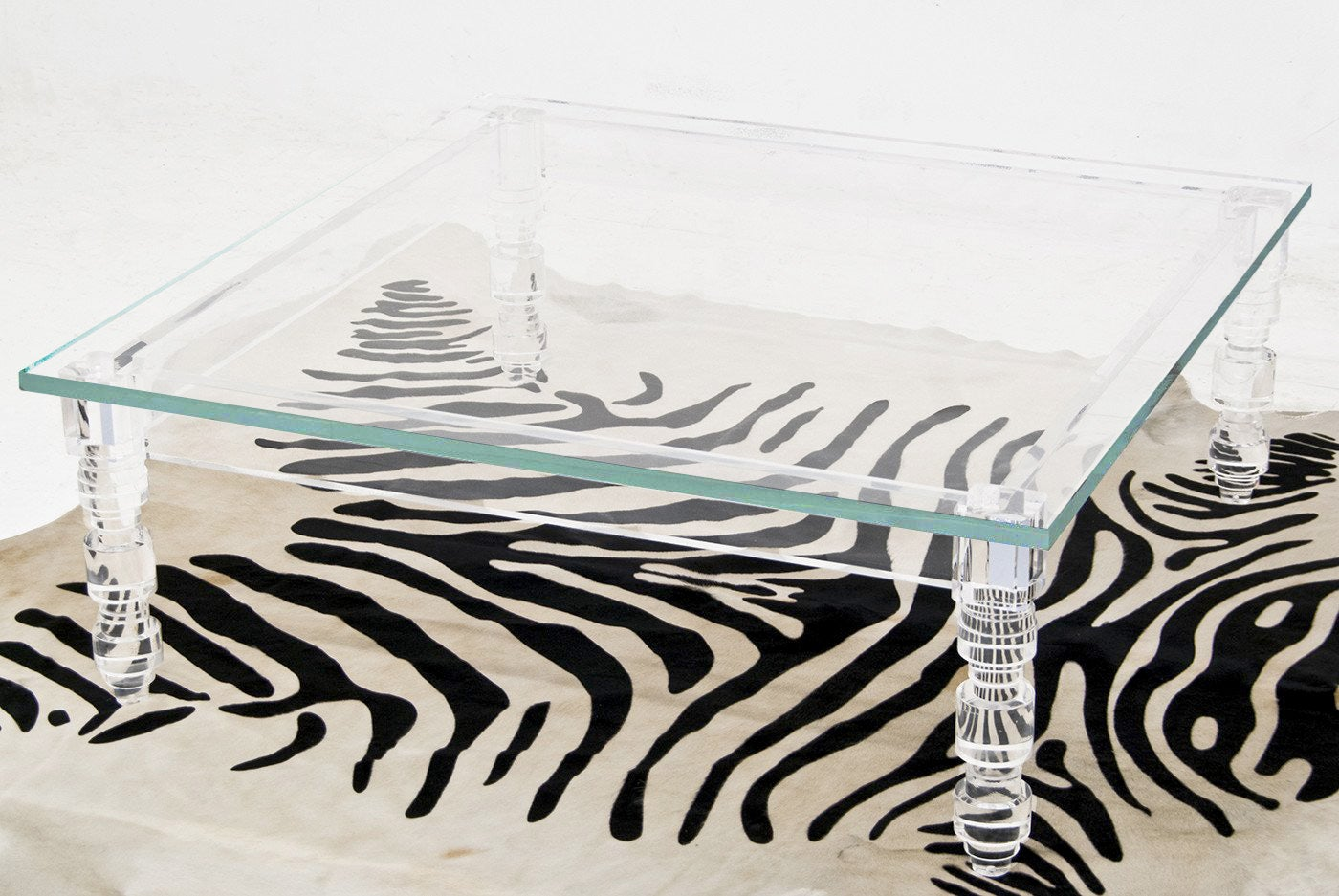 Lucite Coffee Table.Beverly Hills Lucite Coffee Table