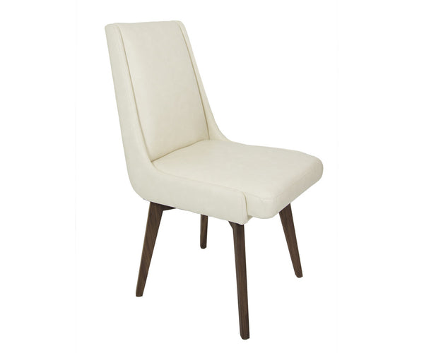 Kensington Dining Chair in Vanilla Faux Leather