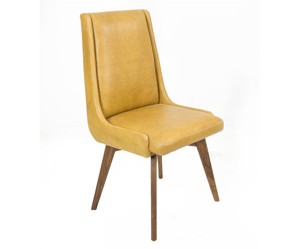 Kensington Dining Chair in Distressed Honey Leather