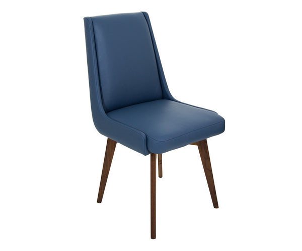 Kensington Dining Chair in Faux Navy Leather