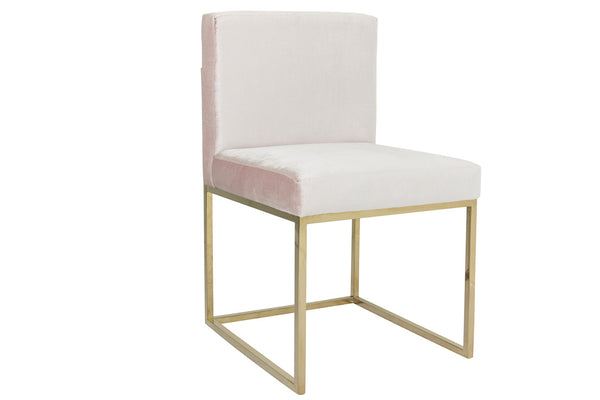 007 Dining Chair in Blush Velvet - ModShop1.com