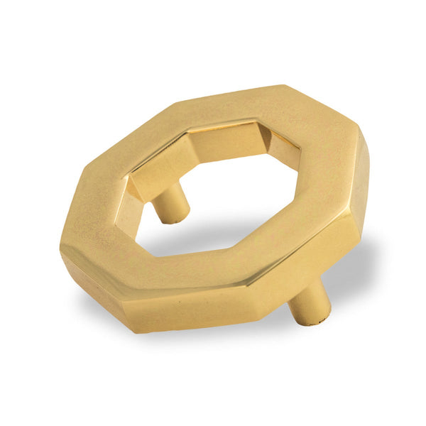 Brass Octagon Pull (Set of 2)
