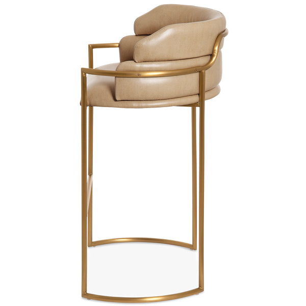 Buenos Aires Bar Stool in Brushed Brass - ModShop1.com