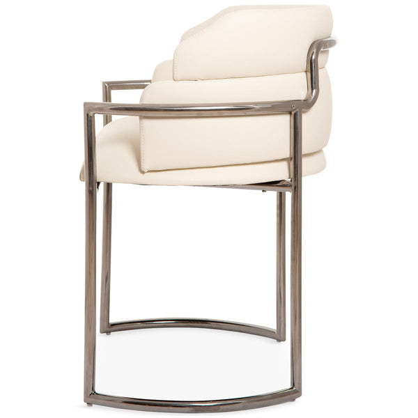 Buenos Aires Dining Chair in Blackened Chrome - ModShop1.com