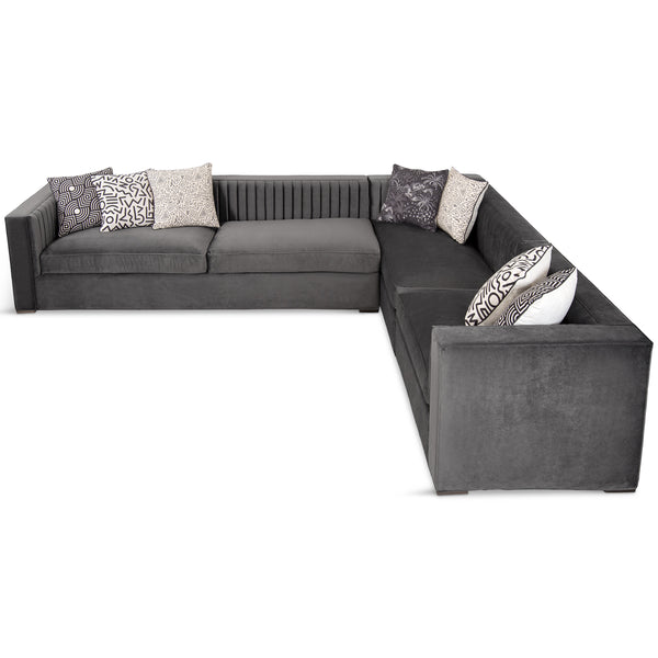 Buenos Aires Sectional in Mystere Cosmic Velvet - ModShop1.com