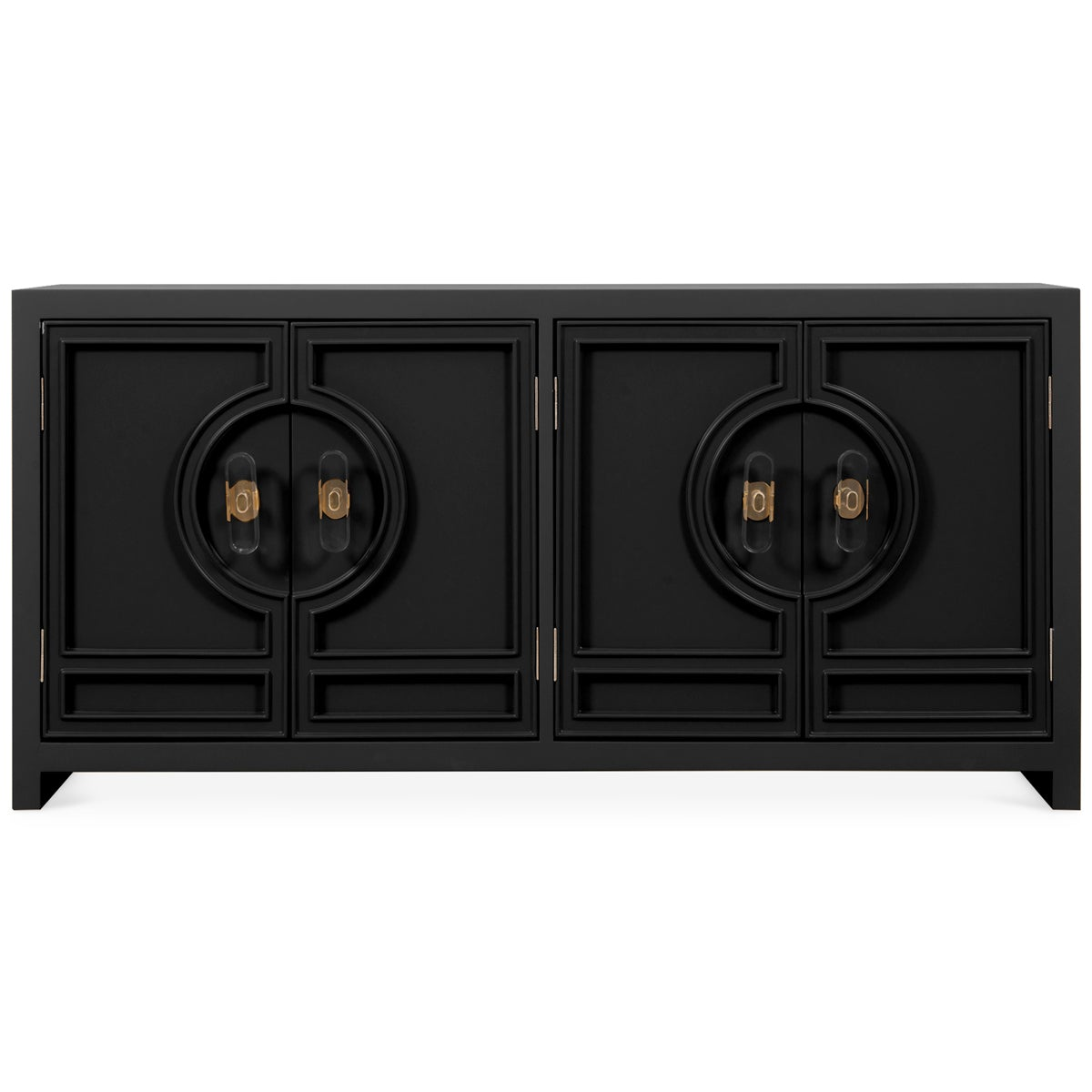 Cannes 4 Door Credenza with Oval Knob Pulls - ModShop1.com