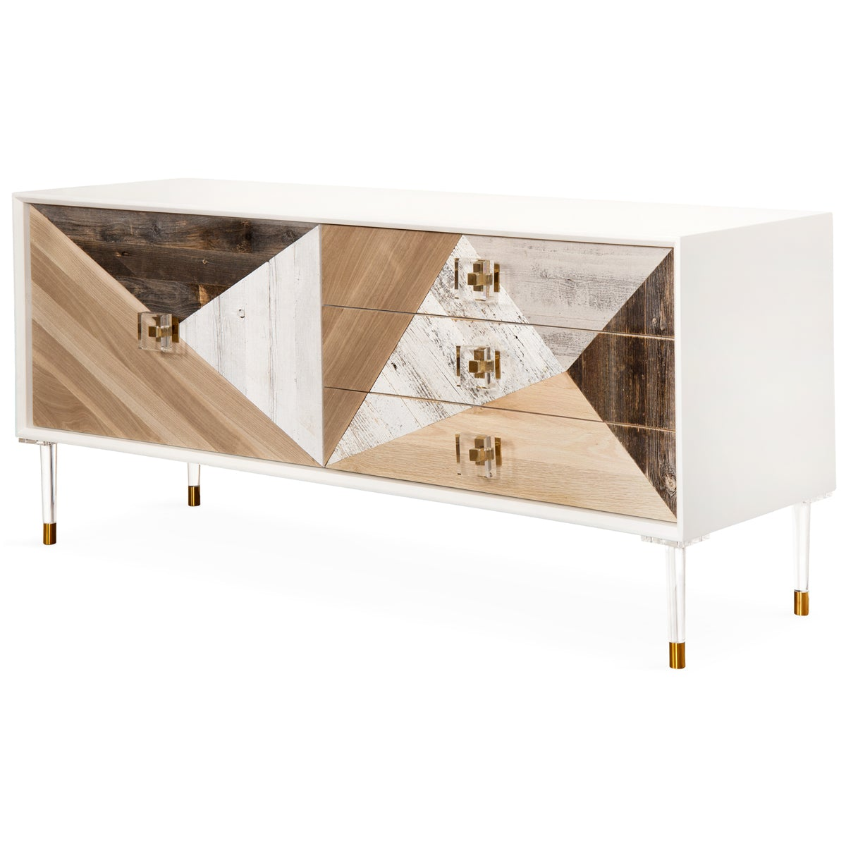 Coffee Table Legs Cape Town: Modern Reclaimed Wood Small Credenza In White