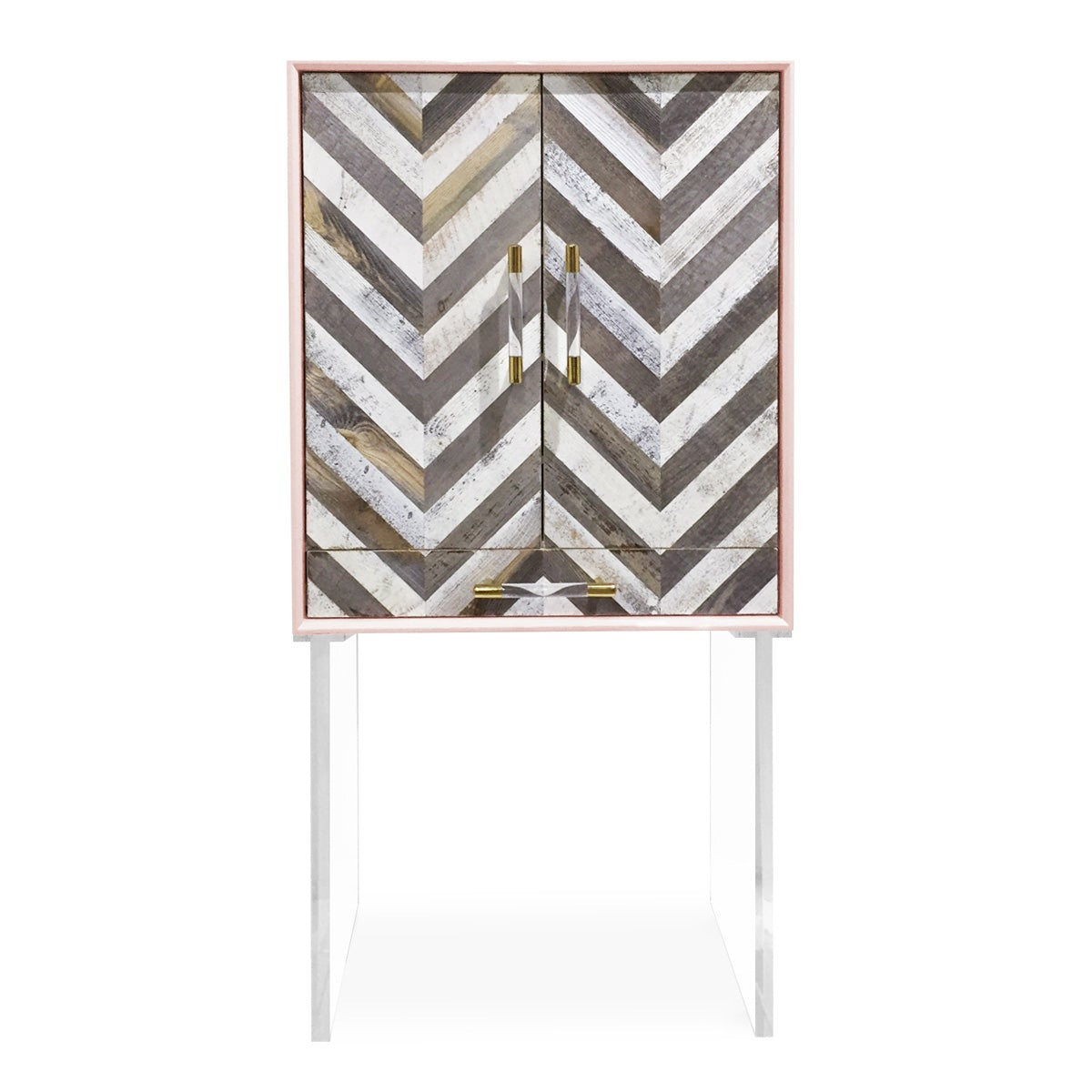 Capri Bar Cabinet with Lucite Legs