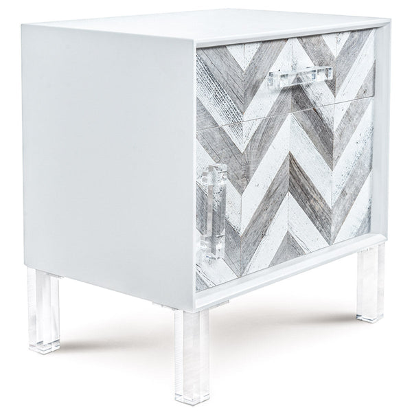 Capri 1 Drawer 1 Door Side Table - ModShop1.com