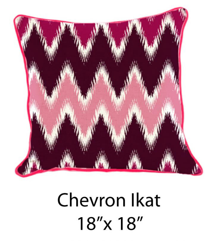Chevron Ikat White/Pink/Burgundy/Purple - ModShop1.com