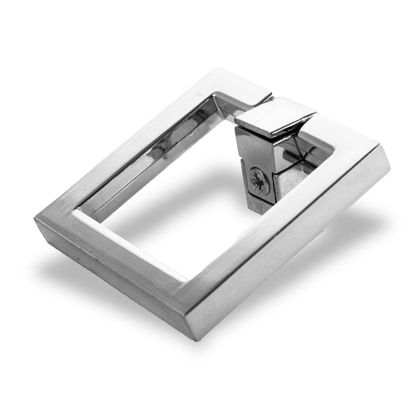 Chrome Square Hardware, Small (Set of 2)