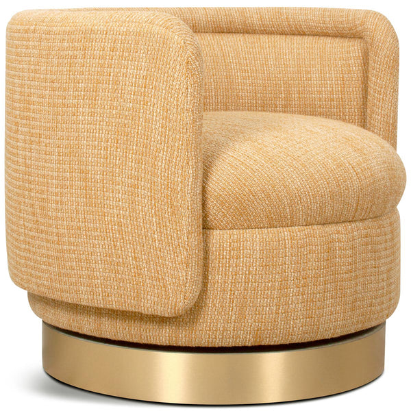Chubby 2 Occasional Chair in Mustard Fabric