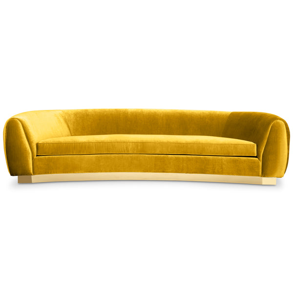 Chubby 2 Sofa with Shiny Brass Toe kick - ModShop1.com