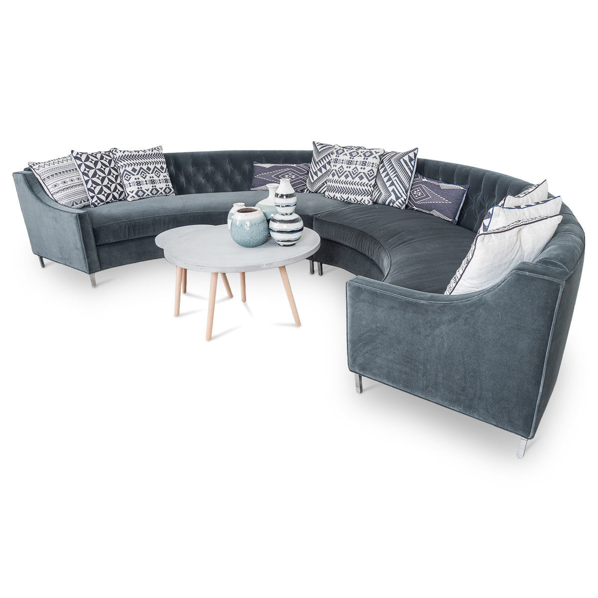Circle Sectional in Velvet - ModShop1.com