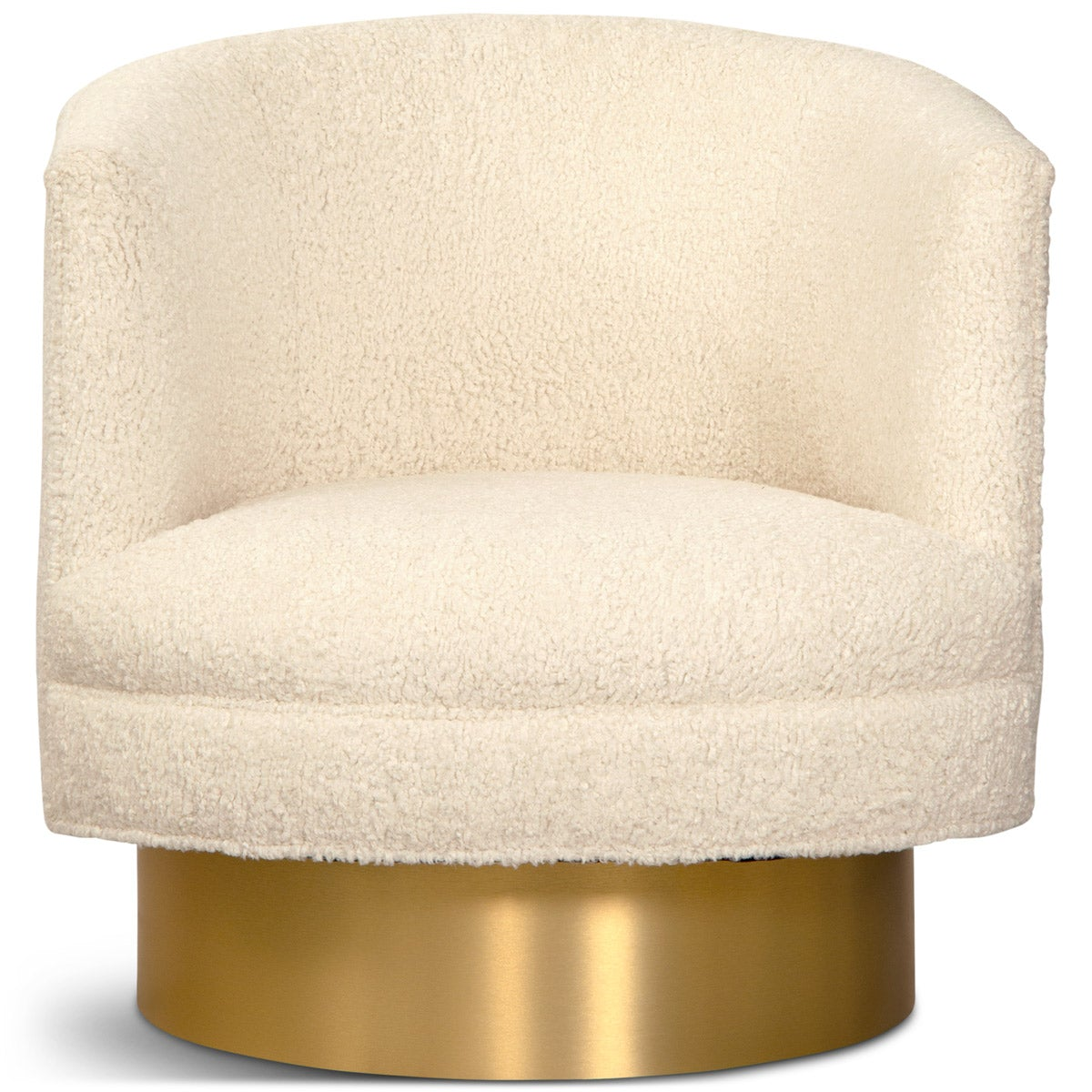 Club Chair in Faux Sheepskin - ModShop1.com