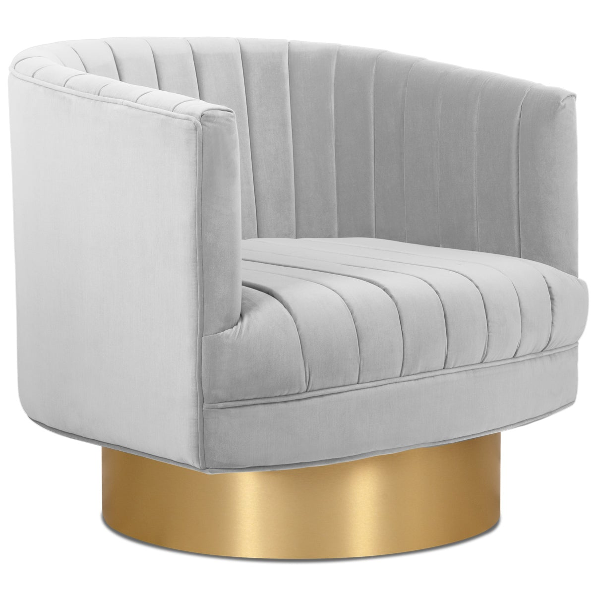 Club Chair in Channel Tufted Velvet - ModShop1.com