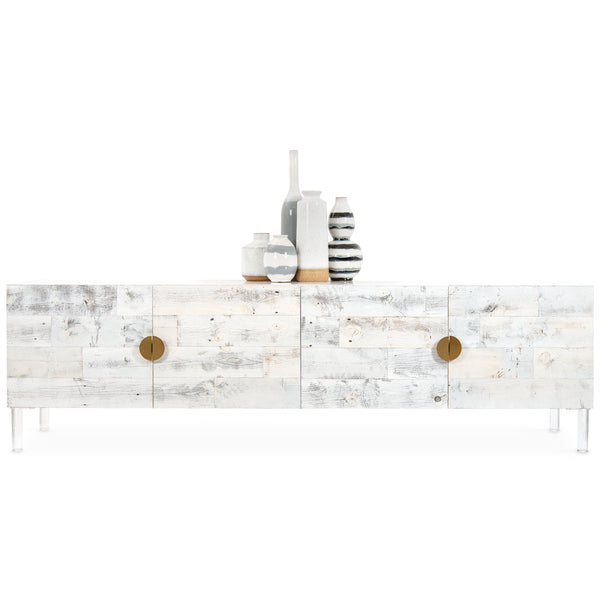 Cody 4 Door Credenza with Half Circle Pulls - ModShop1.com