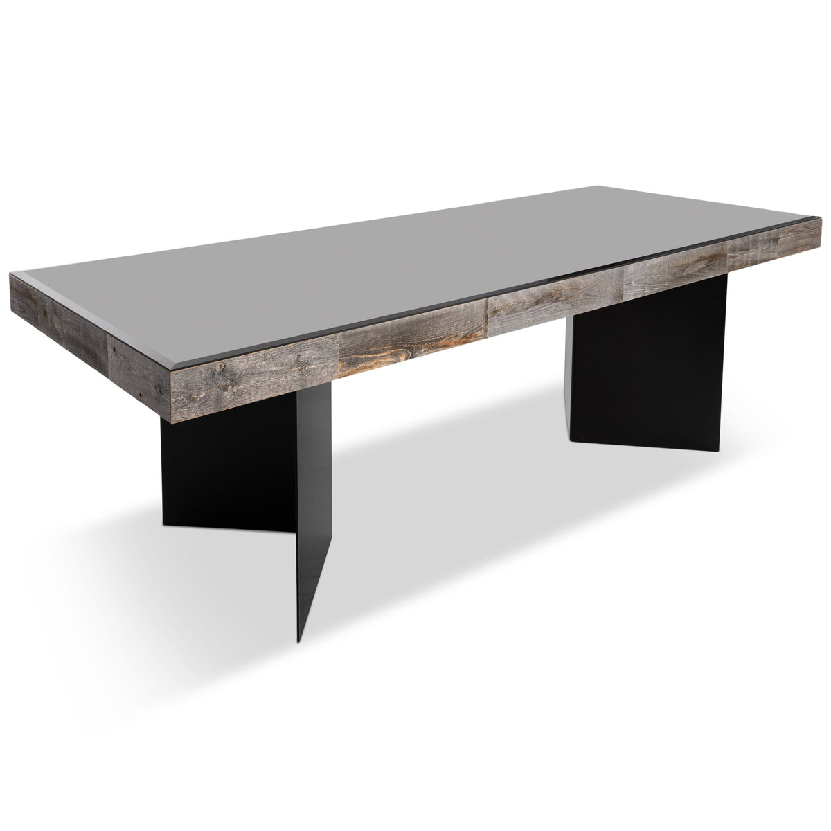 Cody Dining Table in Metal V-base