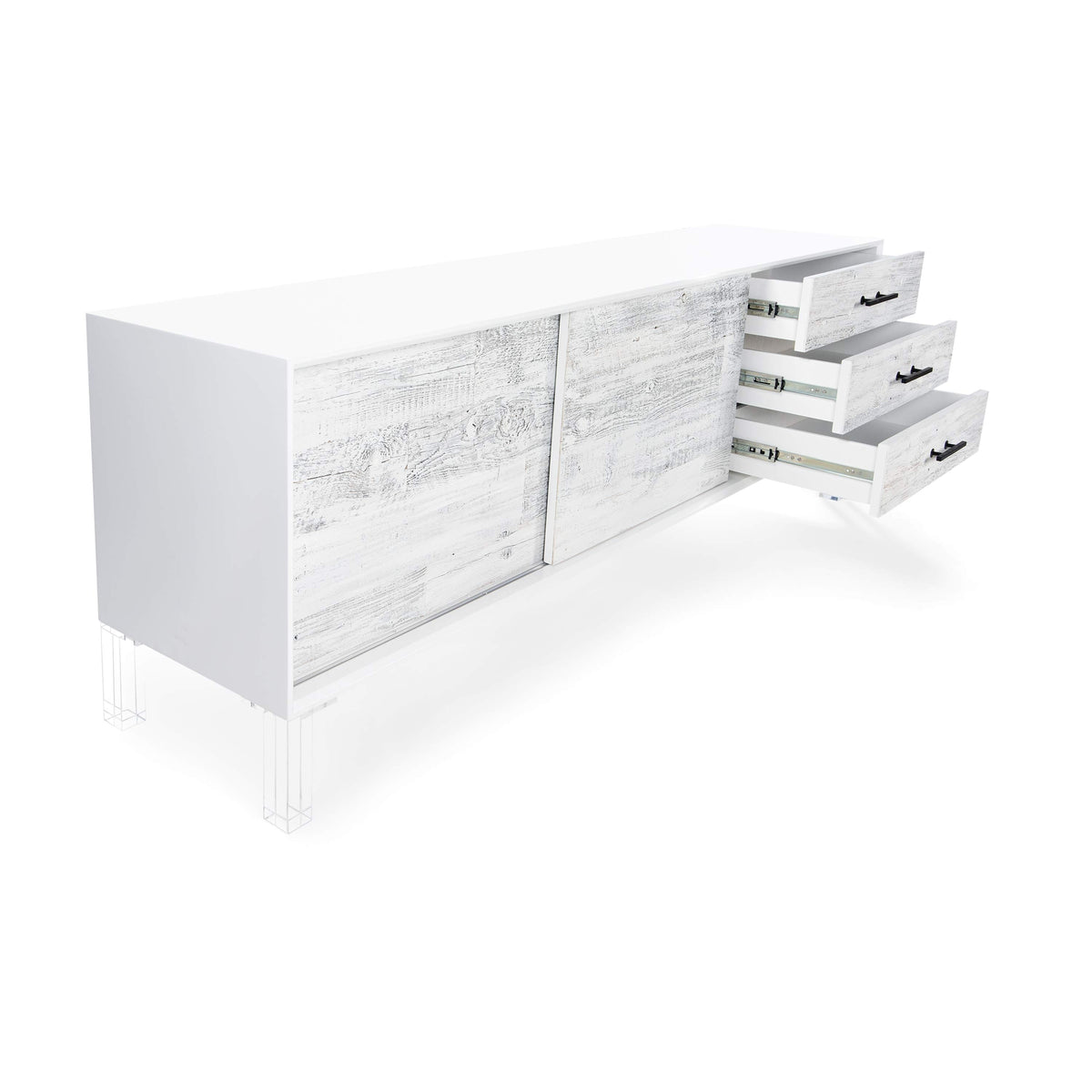 Cody Credenza with Recycled White Washed Wood