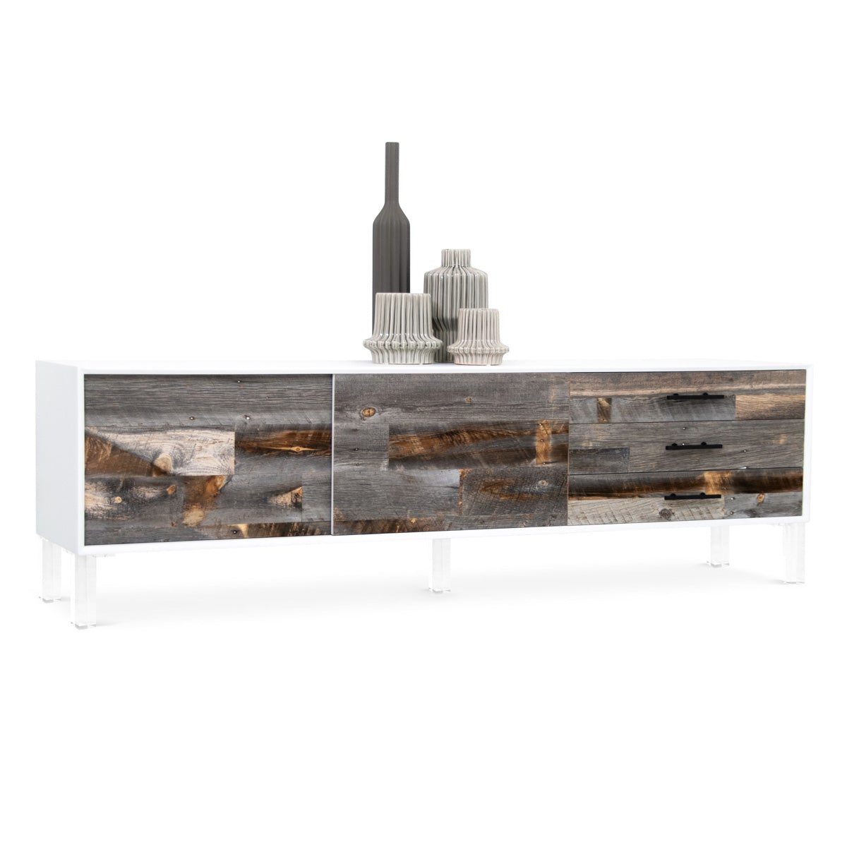 Cody Credenza with Recycled Grey Wood