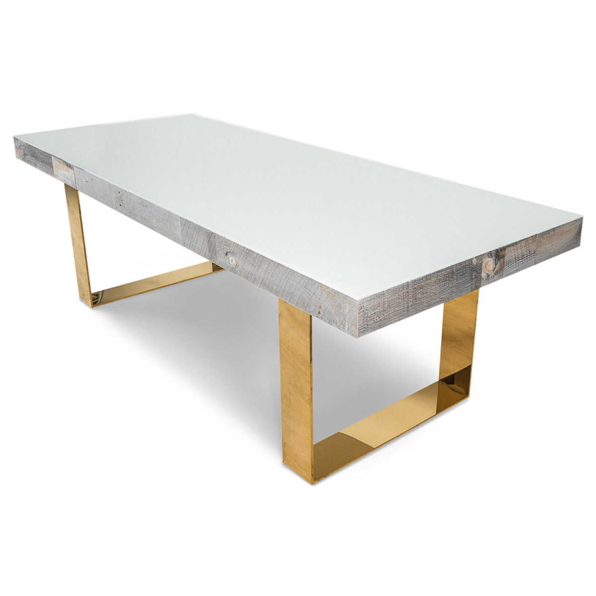 Cody dining table with brass legs