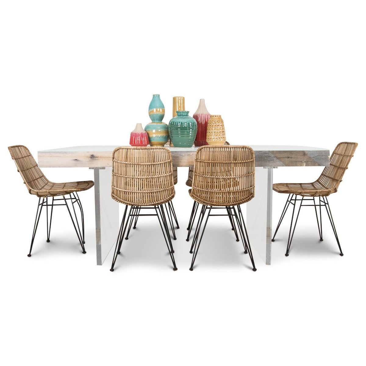 Cody Dining Table in Grey Recycled Wood - ModShop1.com