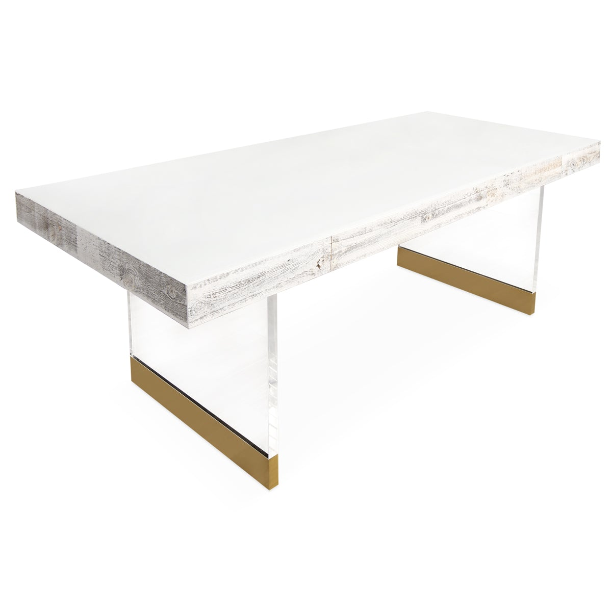 Cody Dining Table in White Recycled Wood - ModShop1.com