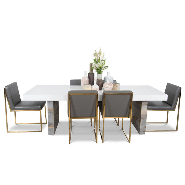 Dining Table With Gold Legs Part - 39: Cody 3 Dining Table