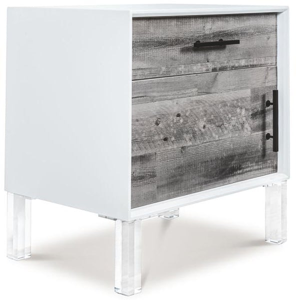 Cody 1 Drawer 1 Door Side Table in Recycled Wood - ModShop1.com
