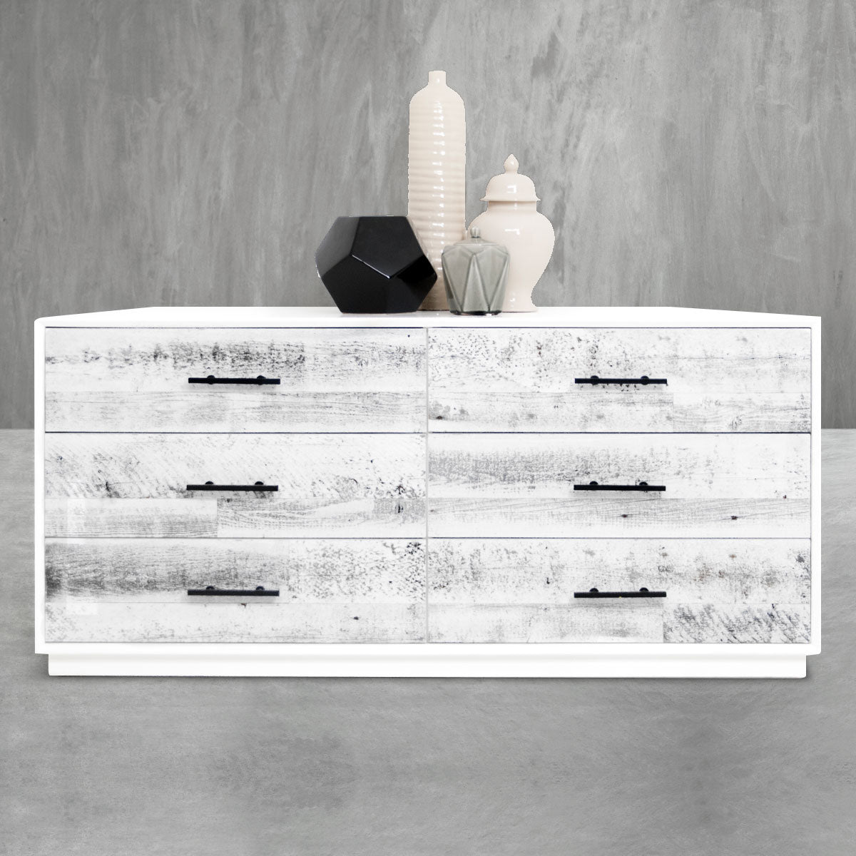 Cody Dresser in White Washed Reclaimed Wood